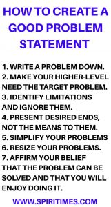 How To Create A Good Problem Statement