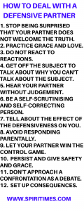 How To Deal With A Defensive Partner
