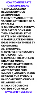 How To Generate Creative Ideas
