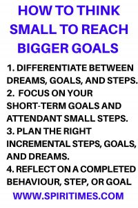 How To Think Small To Reach Bigger Goals