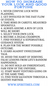 How To Increase Your Luck And Good Fortune