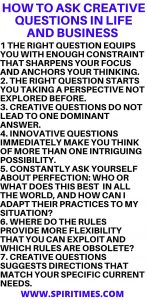 How To Ask Creative Questions